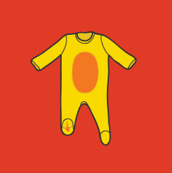 another piece of baby clothing, but this time a little less bizarre. Chicken wings giiirl !