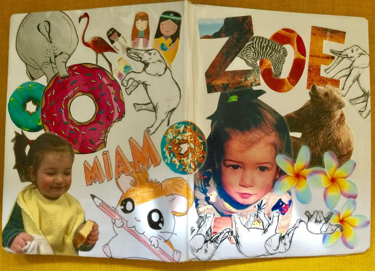 Daycare bookcover 'collage' style