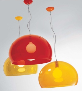 kartell lampe suspension orange