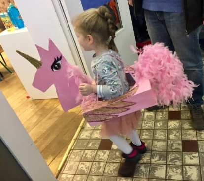 DIY Unicorn costume in action